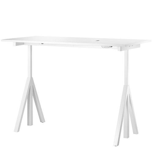 String String Works, tavolo dall'altezza regolabile, bianco
