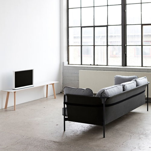 Hay Can sofa 3-seater, black-grey frame, Surface 120