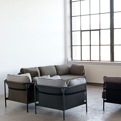 Hay Can 1-seater, grey-grey frame, Surface 120