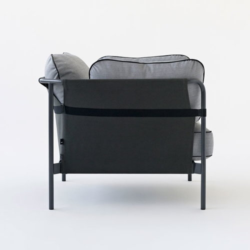 Hay Can 1-seater, black-army frame, Army Canvas
