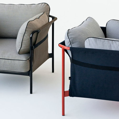Hay Can 1-seater, red-blue frame, Surface 420