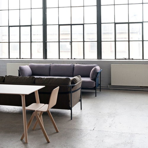 Hay Can sofa 3-seater, black-blue frame, Surface 670