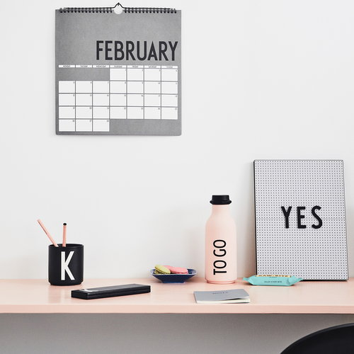 Design Letters Wall calendar 2018, grey