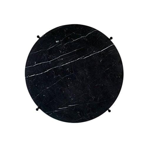 Gubi TS coffee table, 55 cm, black - black marble