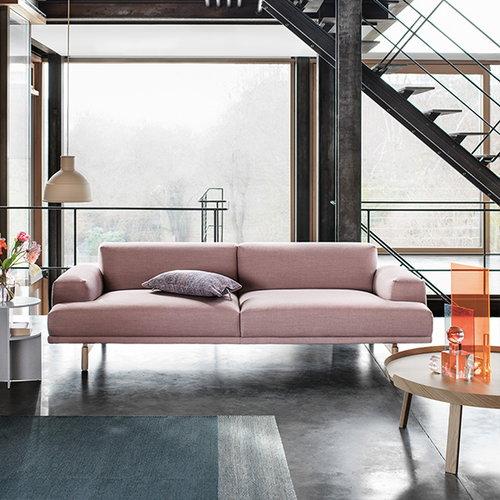Muuto Compose sofa 3-seater, oak legs