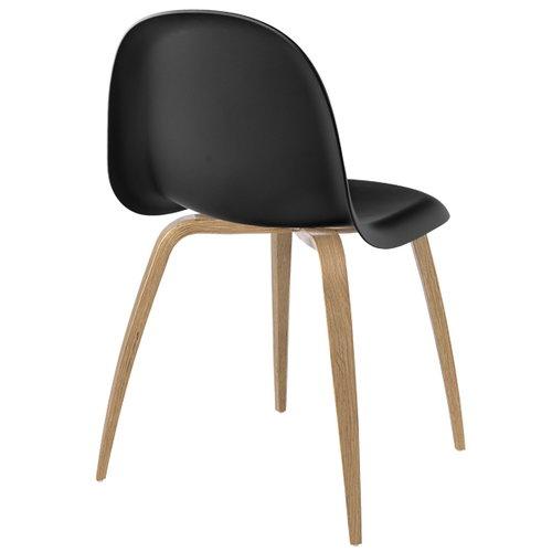 Gubi Gubi 5 tuoli, musta-tammi