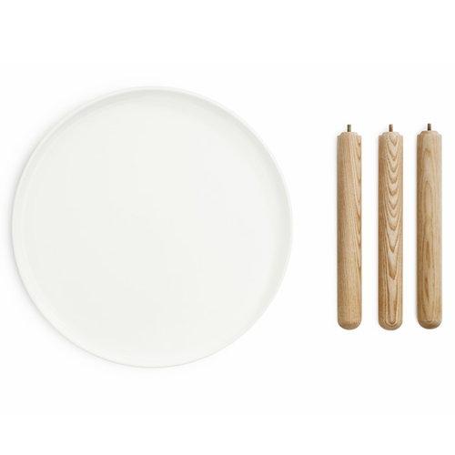 Normann Copenhagen Tablo table large, glossy white