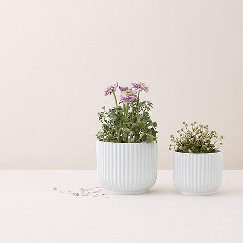 Lyngby Porcelain Kukkaruukku, pieni, valkoinen