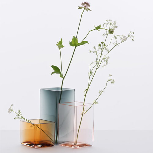 Iittala Ruutu vase, 115 x 180 mm, clear