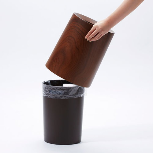 Ideaco Tubelor Homme trash can, rosewood