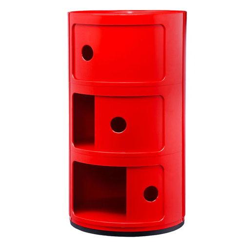 Kartell Mobile contenitore Componibili, 3 moduli, rosso