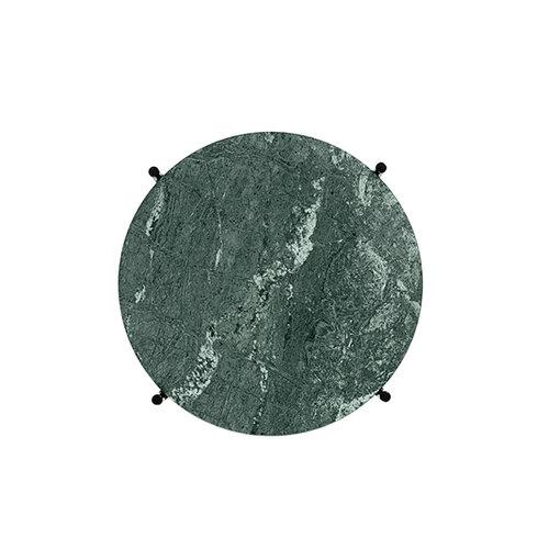 Gubi TS coffee table, 40 cm, black - green marble