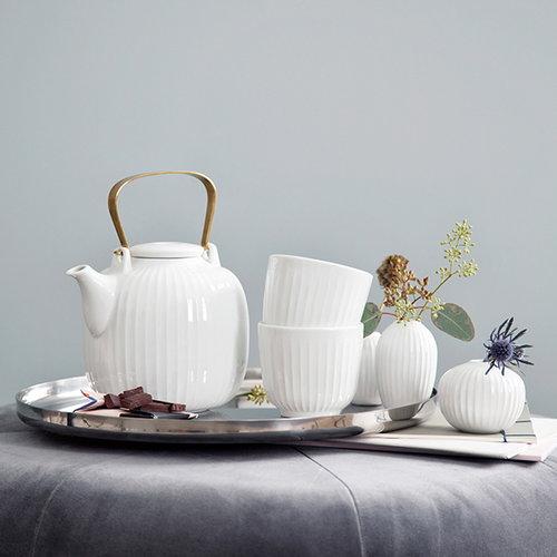 K�hler Hammersh�i teekannu, valkoinen