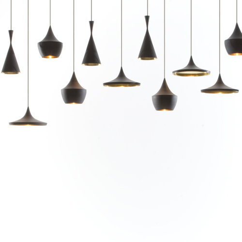 Tom Dixon Beat Light Wide valaisin, musta