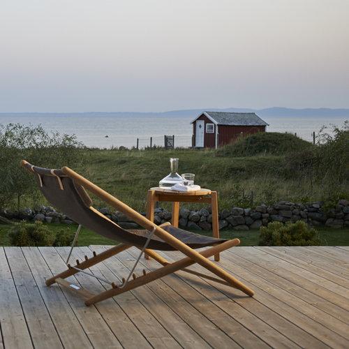 Skargaarden H55 easy chair, teak/sunbrella black