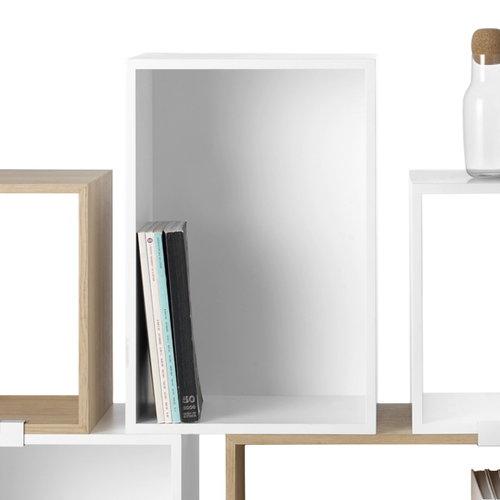 Muuto Stacked shelf module with backboard large, white