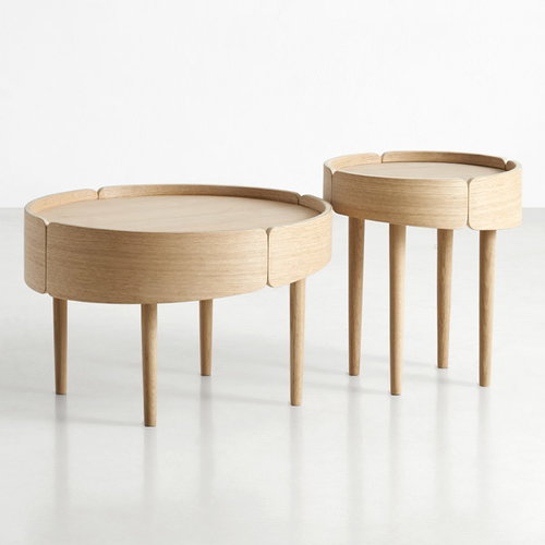 Woud Skirt coffee table, small, oak
