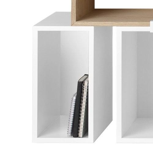 Muuto Modulo Stacked piccolo con parete posteriore, bianco