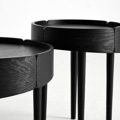 Woud Skirt coffee table, small, black