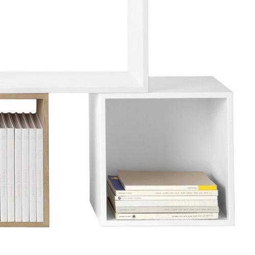 Muuto Stacked shelf module with backboard medium, white