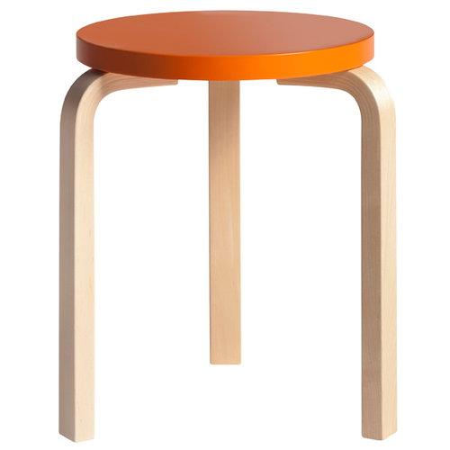 Artek Aalto stool 60, painted seat