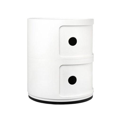 Kartell Mobile contenitore Componibili, 2 moduli, bianco
