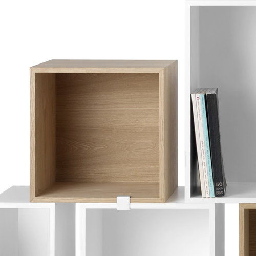 Muuto Stacked shelf module with backboard medium, ash