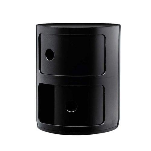 Kartell Componibili storage unit, 2 modules, black