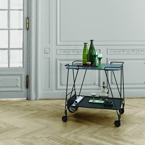 Gubi Mategot trolley, blue grey
