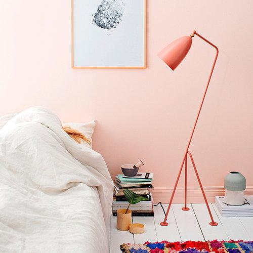 Gubi Gr�shoppa floor lamp, vintage red