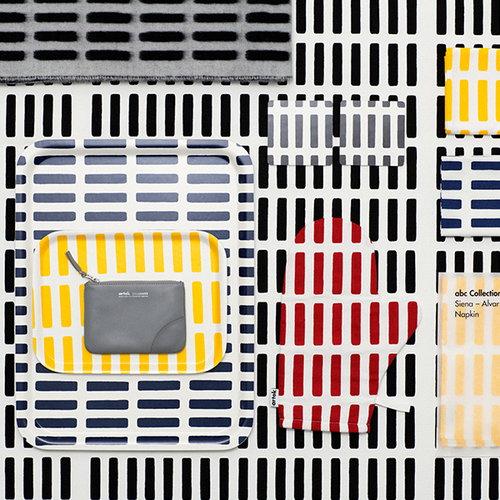Artek Siena canvas puuvillakangas 150x300cm, valko-musta