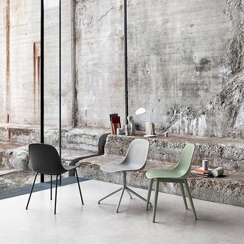 Muuto Fiber tuoli, py�riv�, verhoiltu - harmaa jalusta