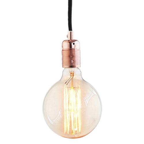 Frama E27 cord, copper-black