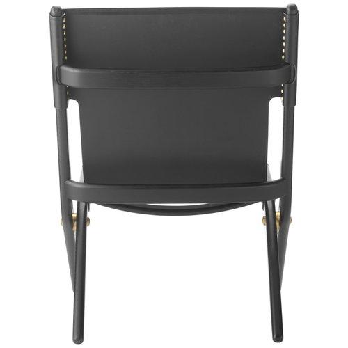 By Lassen Saxe lounge chair, black/black leather