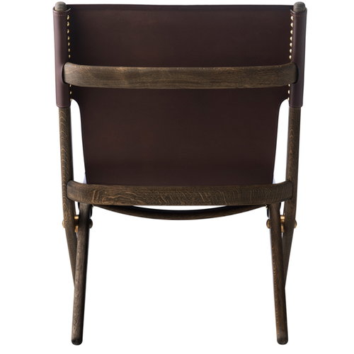 By Lassen Saxe lounge chair, brown/brown leather