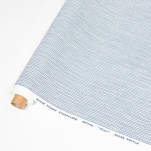 Artek Rivi puuvillakangas, 150 x 300 cm, valkoinen-sininen