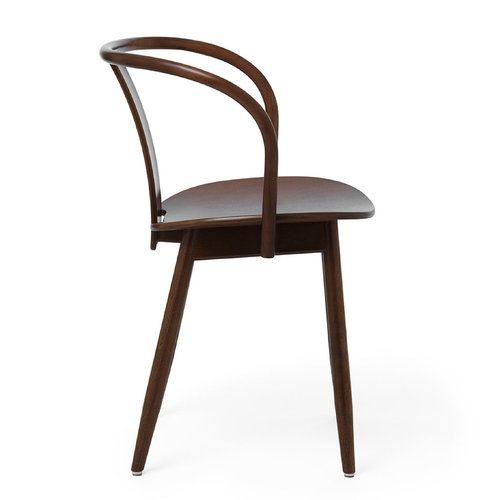 Massproductions Icha chair, walnut stained beech