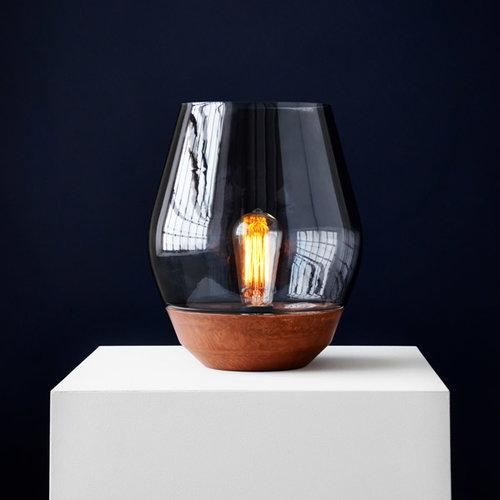 New Works Bowl p�yt�valaisin, kupari - vaalea savulasi