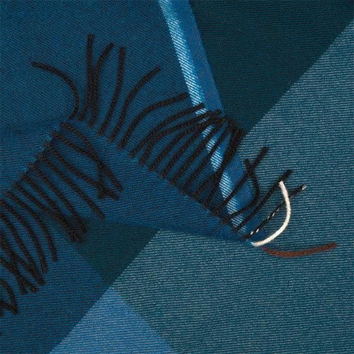 Vitra Colour Block torkkupeitto, sininen - musta