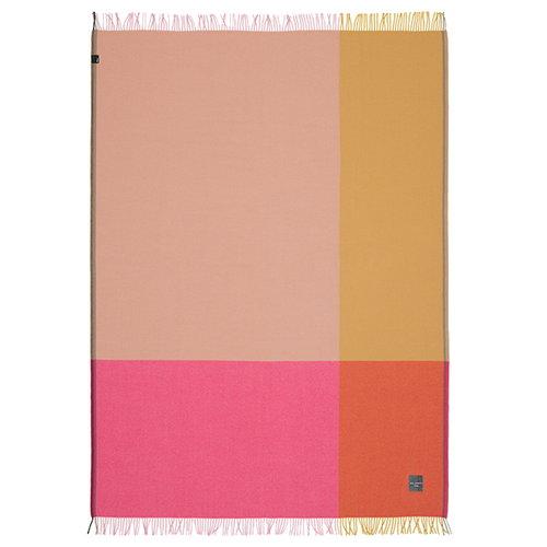 Vitra Colour Block blanket, pink - beige