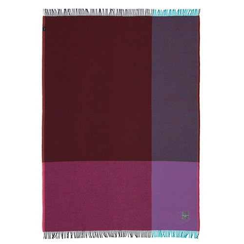 Vitra Colour Block blanket, blue - bordeaux