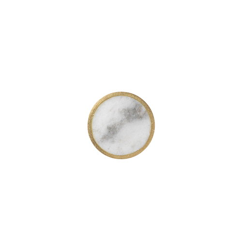 Ferm Living Hook Stone, white marble, small