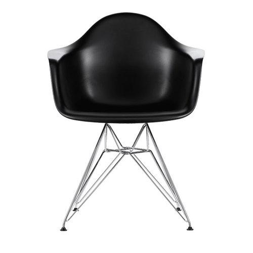 Vitra Eames DAR chair, black - chrome