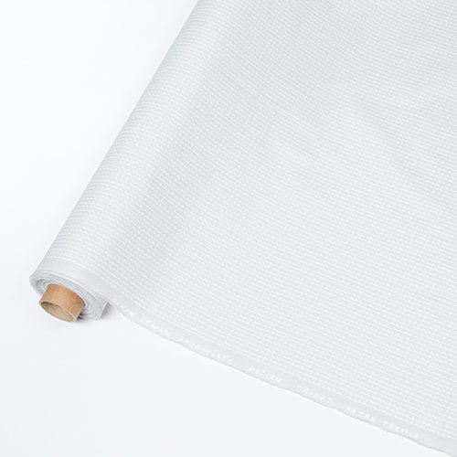 Artek Rivi acrylic coated cotton fabric, 145 x 300 cm, light grey-whit