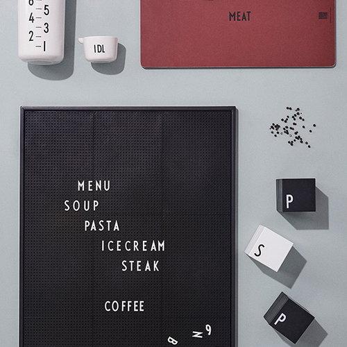 Design Letters Message board A2, black