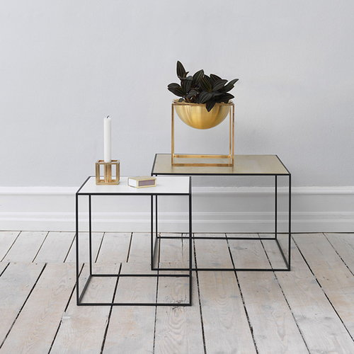 By Lassen Twin 35 table, brass/misty green