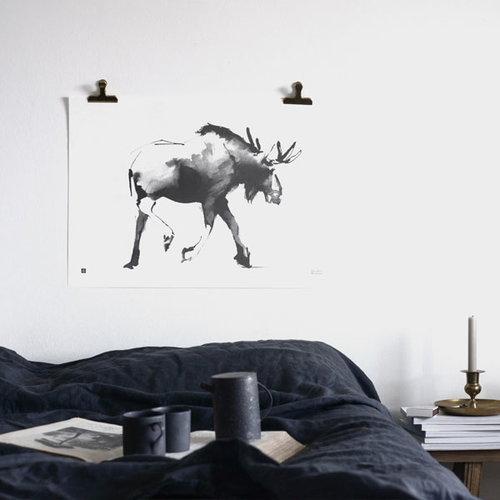 Teemu J�rvi Illustrations Hirvi juliste, 70 x 50 cm