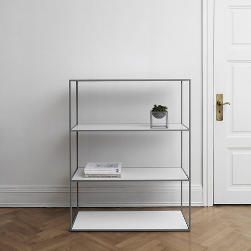 By Lassen Twin bookcase, large, grey