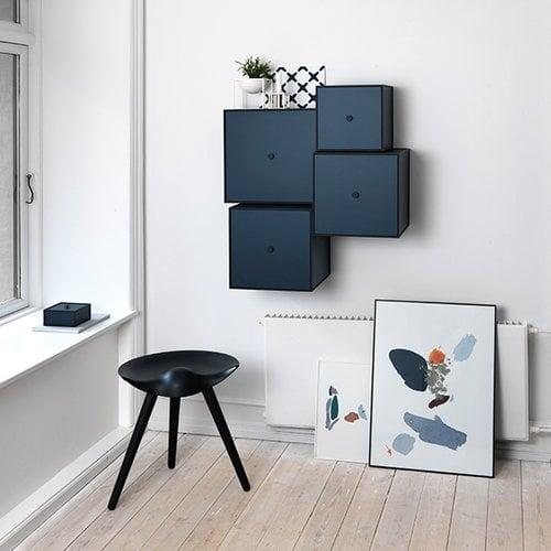 By Lassen ML42 stool, 48 cm, black stained beech