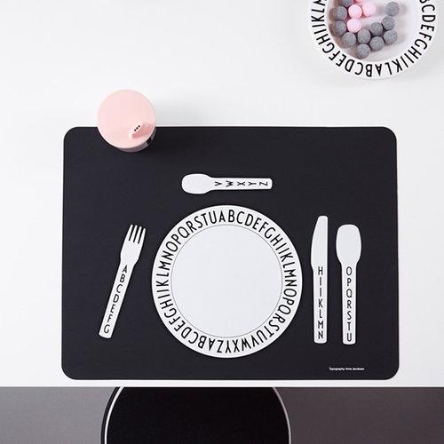 Design Letters Arne Jacobsen deep melamine plate
